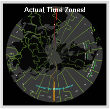Actual Time Zones - fulldome image